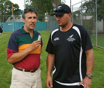 fastball new zealand coach thomas markea being interviewed(copy)